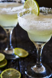 Frozen Margaritas. With lime and salt Royalty Free Stock Images