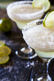 Frozen margaritas. With lime and salt Royalty Free Stock Photos