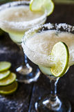 Frozen margaritas. With lime and salt Royalty Free Stock Image