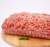 Frozen meat. A cube of some frozen meat of a pork Stock Image