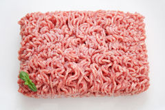 Frozen meat. A cube of some frozen meat of a pork Royalty Free Stock Photography
