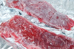 Frozen meat Stock Images
