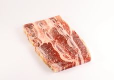 Frozen meat stock image