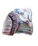 Frozen meat. Prepackaged frozen lamb meat from supermarket Royalty Free Stock Photography