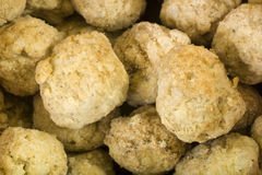Frozen Meat Balls Background Royalty Free Stock Image