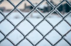 Frozen Metal Network. Stock Images