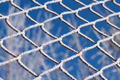 Frozen metallic fence pattern Stock Image
