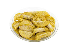 Frozen Mini Tacos on Plate Royalty Free Stock Image