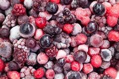 Frozen mixberries Stock Image