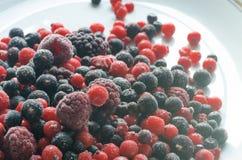 Frozen mixed fruits Stock Photo