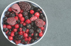 Frozen mixed fruits Royalty Free Stock Photo