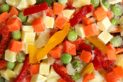 Frozen mixed vegetables Stock Images