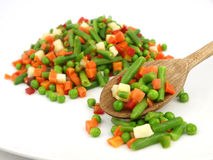 Frozen mixed vegetables Royalty Free Stock Images