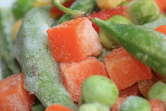 Frozen mixed vegetables closeup Royalty Free Stock Image