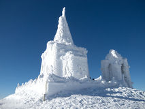 Frozen monastery Royalty Free Stock Photo