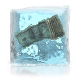 Frozen money deposits concept Stock Image