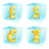 Frozen money Royalty Free Stock Image