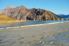 Frozen montain lake Stock Image