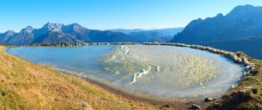 Frozen montain lake Royalty Free Stock Image