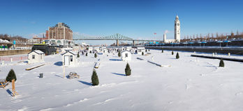 Frozen Montreal Royalty Free Stock Images