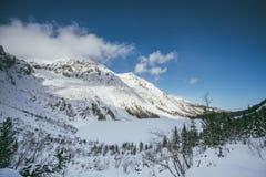 Frozen Morskie Oko lake Stock Photos