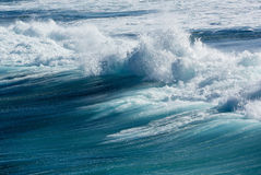 Frozen motion of large wave at sea Royalty Free Stock Photography