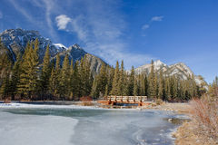Frozen Mount Lorette Pond Stock Image