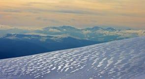 Frozen mountain Stock Photography