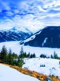 Frozen mountain lake  Stock Photo