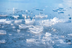 Frozen mountain lake surface. Stock Photography