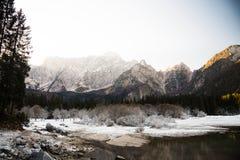 Frozen mountain landscape Stock Photo