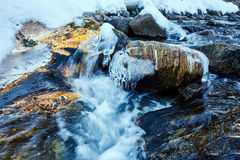 Frozen mountain river Royalty Free Stock Photography