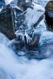 Frozen mountain river Stock Photography