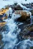 Frozen mountain river Royalty Free Stock Photos