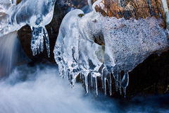 Frozen mountain river Royalty Free Stock Image