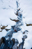 Frozen mountain river Royalty Free Stock Photo