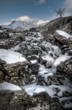 Frozen Mountain Waterfall Royalty Free Stock Image