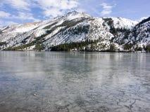 Frozen Mtn Lake. Frozen Mountain Lake, Sierra Nevada, Ca, USA royalty free stock photography