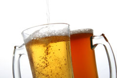 Frozen mug. With cold beer Stock Photography