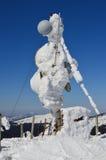 Frozen multiple purposes antenna Stock Photos