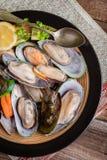 Frozen mussels. Stock Photos