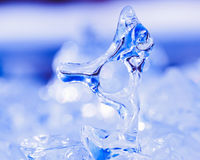Frozen natural ice sculpture nature abstract art Stock Photos