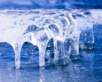 Frozen natural ice sculpture nature abstract art Royalty Free Stock Image