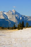 Frozen nature, canadian rockies Stock Photos