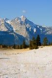 Frozen nature, canadian rockies. Jasper national park, alberta, canada, sunny weather, first snow Stock Photos
