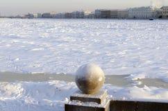 Frozen Neva Royalty Free Stock Photography