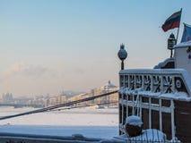 Frozen Neva River in winter Royalty Free Stock Photos