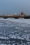 The frozen Neva Stock Photography