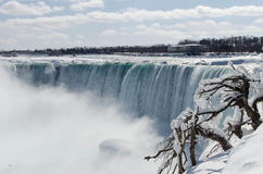 Winter in Niagara Falls. Niagara Falls in the winter royalty free stock image