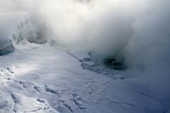Frozen Niagara Falls in winter Stock Image
